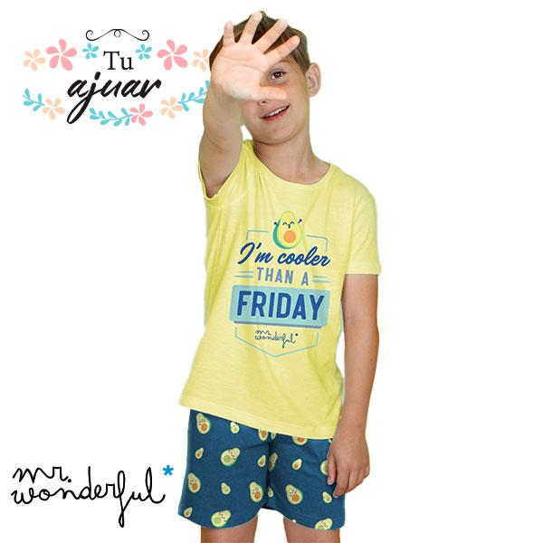 Pijama aguacate Mr Wonderful niño-55725-0