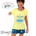 Pijama aguacates Mr Wonderful niña-55735-0