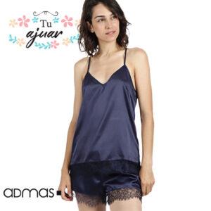 Pijama satén ADMAS mujer-50924-0