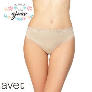 Braguita bikini AVET algodón con encaje