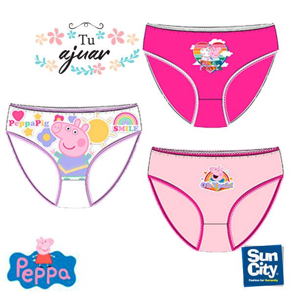 Bragas niña PEPPA PIG-Pack 3 u.-UE3026.E00