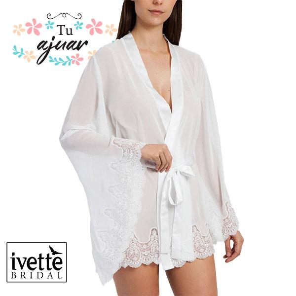 Bata novia IVETTE BRIDAL tipo kimono